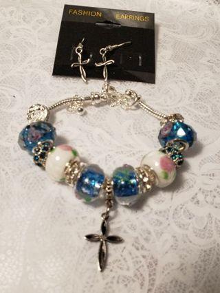 Euro Braclet ♡♡ Happy Easter ♡♡ Braclet and Earrings