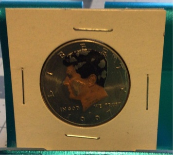 1997 COLORIZED Kennedy half dollar