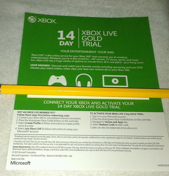 how to get free xbox live gold 2 day trials
