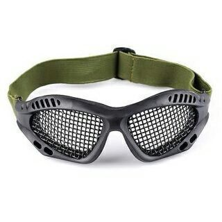 Outdoor Eye Protective Airsoft Safety Tactical Goggles CS Game with Metal Mesh