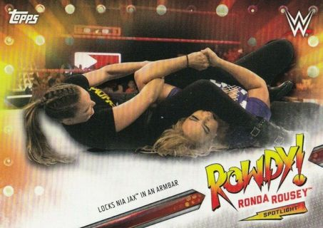 Ronda Rousey - 2019 Topps WWE Raw Spotlight #14 - MINT CARD