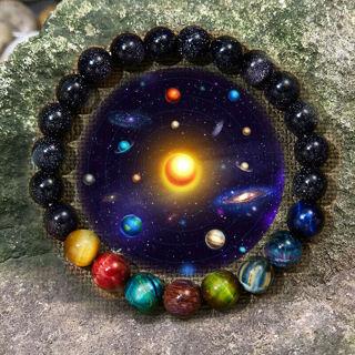 [GIN FOR FREE SHIPPING] Fashion Natural Stone Bead Bracelet Men Women Universe Chakra