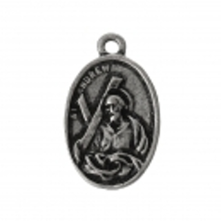 1 Antique Silver Saint  Andrew Metal Charm / Pendant -  25x16mm