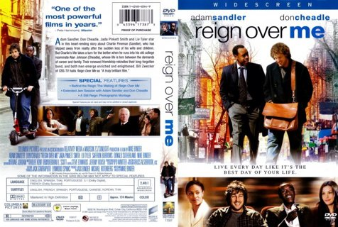 DVD REIGN OVER ME (ADAM SANDLER & DON CHEADLE) NEW RATED R