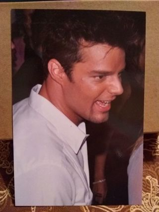 Ricky Martin Photo Post Card Size Trading Card