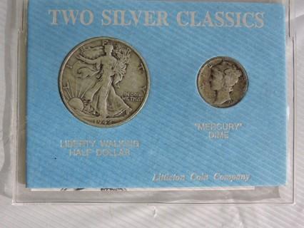 Free: Two Silver Classics 1942 Walking Liberty Half Dollar & 1934