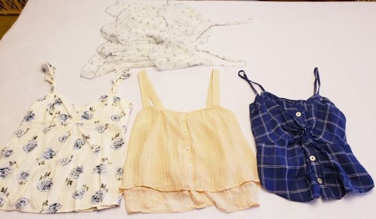 *Gorgeous* 4pc Abercrombie Spring/Summer Cami Lot Size Small