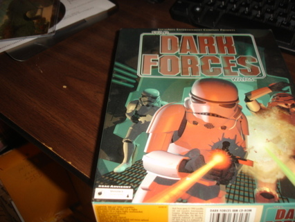 star wars dark forces box with paperwork.
