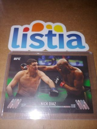 NICK DIAZ⭐ STOCKTON BRO⭐2017 TOPPS UFC⭐ EMERALD #/215!!!!!⭐ FREE $HIPPING