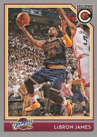 2016-17 Panini Complete LeBron James LA Lakers (pictured as a Cavalier) #46!