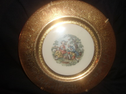 Gold Warranted 22k George and Martha Washington Antique 1819 Collectors Plate