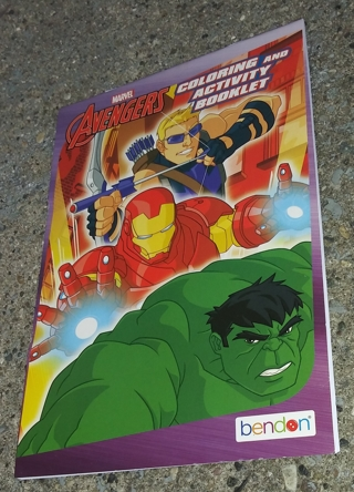 MARVEL AVENGERS COLORING AND ACTIVITY BOOKLET LOT 1