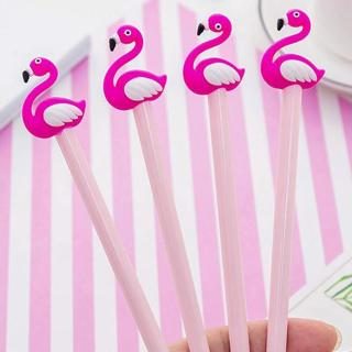 Kawaii Flamingos Shell Gel Pen DIY Office Stationery and School Supplies Smooth Writing Black and