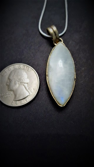 Rainbow Moonstone Pendant Necklace (Moonstone Lot 3)