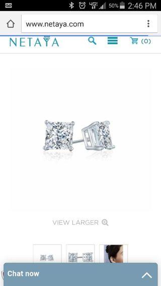Diamond earrings from Kay jewelry store