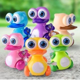 2x Cartoon Plastic Children Kid Duck Animal Walking Wind Up Toy Clockwork Toy