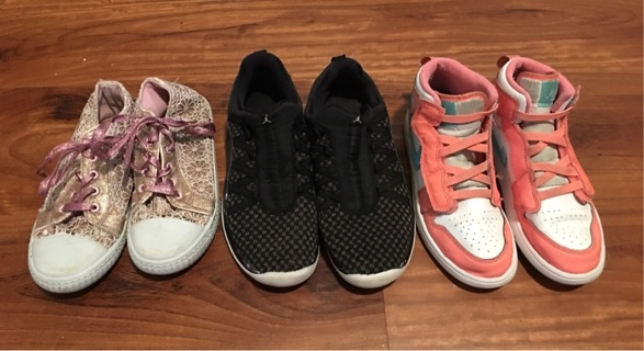 3 Pair Of Girls Shoes