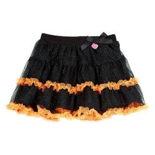 Hello Kitty Infant Toddler Girls' Tutu Skirt - Black/Orange**SURPRISE GIN BONUS**