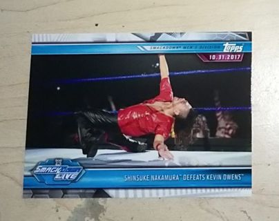 WWE 2019 Road to Wrestlemania Shinsuke Nakamura Card