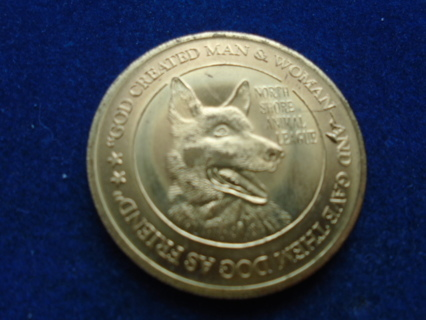BU! 1945-1975 NORTH SHORE ANIMAL LEAGUE MEDAL DOG & CAT COIN!