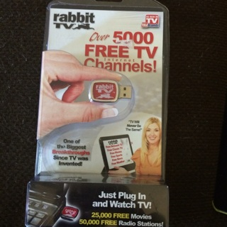 Rabbit TV just plug in and watch
