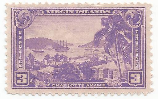 MNG US Scott #802 – 1937 3c Virgin Islands
