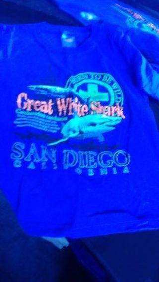San Diego CA, Shark Tee- size 6/8- very heavy