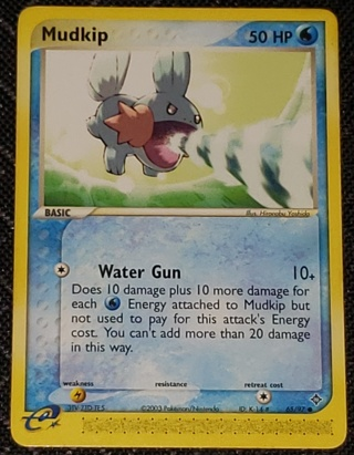 Pokemon Card Mudkip 65/97 50 HP Ex Dragon Set