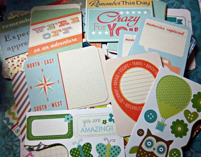 Lot#8 Embellishments Cards Sayings for Scrapbook or Paper Crafts FREE SHIPPING