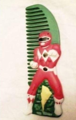 1 SABAN™ 1994 POWER RANGERS Comb Hair brush RED RANGER ORIGINAL Free Shipping