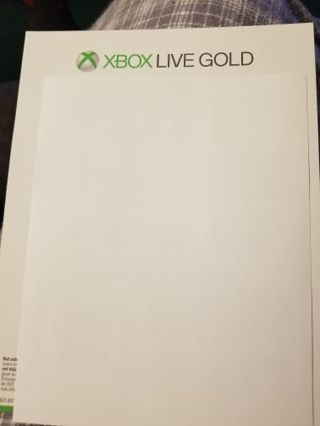 One month of xbox live and one month of game pass