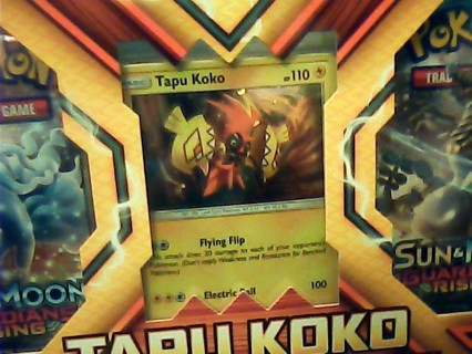 Pokemon (My Last One)Tapu Koko Figure Collection Sealed-New 2017 Gin Bonus