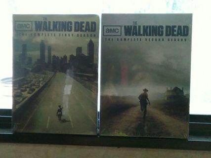WALKING DEAD SEASON 1 & 2 NIP / SEALED DVD DVD'S