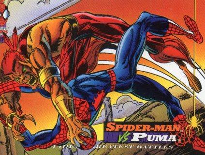 1994 Spider-Man: Collectible/Trade Card: Spider-Man vs Puma