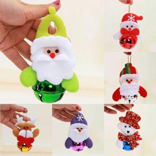 3PCs Christmas Ornament Tree Hanging Festival Party Xmas Metal Tone Jingle Bell Decor