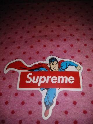 "❤✨❤✨❤️1 BRAND NEW ""SUPERMAN"" SUPREME STICKER❤✨❤✨❤"