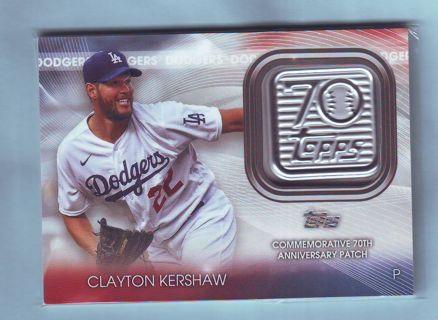 2021 Topps Series 1 Clayton Kershaw Patch Baseball Card # 70LP-CK Dodgers