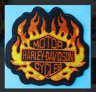 NEW Harley Motorcycles BIKER Embroidered Iron-On Patch FREE SHIPPING