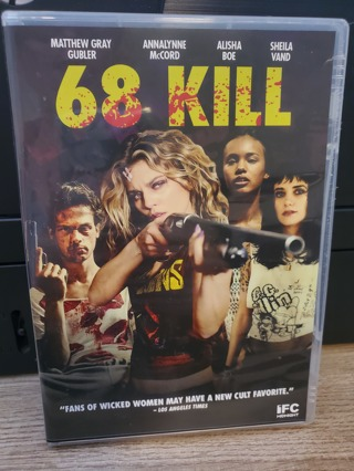 "DVD - ""68 Kill"" - rated R"