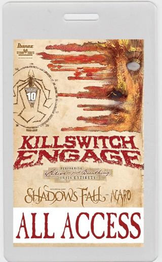 Free: KILLSWITCH ENGAGE tour laminate with SHADOWS FALL and