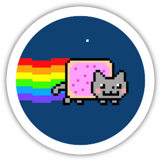 Collectible NFT Badge: I ❤️ Nyan Cat Frame #10 of 12