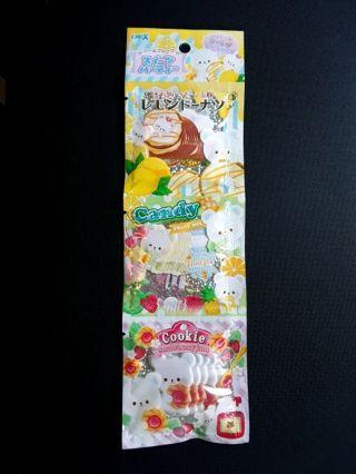 """Crux """"Beary Sweets"""" Sticker Sacks Strip ~ 49 LG & XL Stickers *Pricey!!* Only One!! ☆Kawaii Bonus☆"""