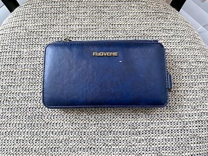 Brand New Navy Blue Multi Compartment Phone Wallet Case - Please Read