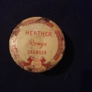 RELISTING**Vintage Antique Heather Rouge Oramber Tin