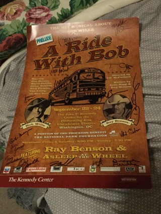 Asleep At The Wheel signed autographed performance poster