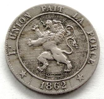 BELGIUM 5 CENTIMES 1862  Leopold I.