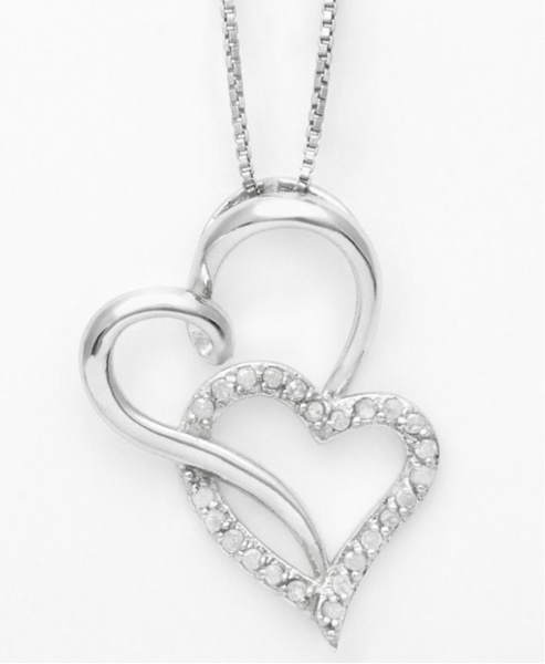 Free bnwt two hearts forever one genuine 14 carat diamond necklace free bnwt two hearts forever one genuine 14 carat diamond necklace necklaces listia auctions for free stuff aloadofball Image collections