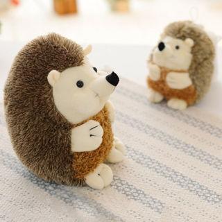 1PC Cute Brown Soft Hedgehog Animal Doll Stuffed Plush Toys Xmas Gifts Girls Dolls