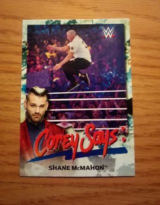 WWE 2019 Smackdown Live Shane McMahon Corey Says Insert Card