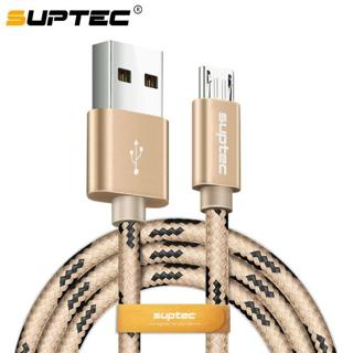 SUPTEC 2M 3M Micro USB Cable 2.4A Fast Charging Data Charge Cable for Android Samsung S6 S7 Edge X